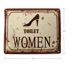 TIMBER - TIN SIGN TOILET WOMEN