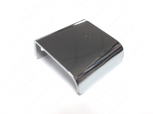 Poignée contemporaine pour rebord en métal - 3966 - 25 mm -  Chrome