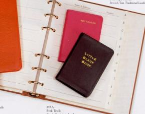 Desk Size Address Book W/ Genuine Leather