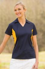 Coal Harbour - L4001 - Snag Resistant Colour Block Ladies Sport Polo Shirt - 100% poly