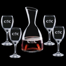 48 Oz. Rathburn Carafe with 4 Wine Glasses
