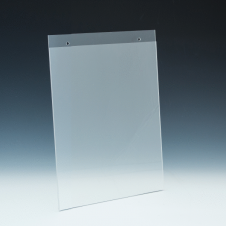 Wallmount Sign Holder - 8,5 W x 11 H - Clear durable acrylic