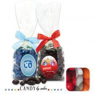 Stand Up Bag w/ Bow Filled w/ Gumballs
