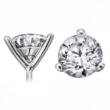 Diamond Stud Earrings in 18K Nickel Free White Gold (0.15 CT. T.W.)