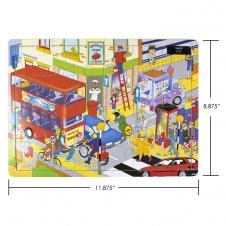 IPLAY - casse-tête en bois - City - 8.875 x 11.875 (22.5 x 30 cm)