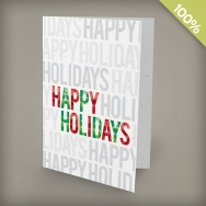 A6 - 100 percent Plantable Personalized Holiday Cards - Milestone Happy Holidays