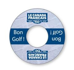Golf Cup Advertising Ring - .020 white PVC plastic; Full Color Digital
