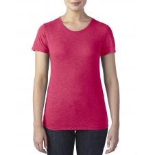 ANVIL - 6750L - T-Shirt - Triblend Col Rond pour femme - 50/25/25 - Rouge Cendré - X-Small