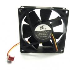 Ventillateur de boîtier - 80 mm x 80 mm x 25 mm - Connecteur 3 pin - Noir