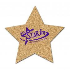Star Shaped All Natural Cork Coasters