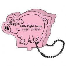 Foam Floating Key Tag - Pig