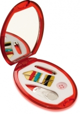 Compact Mirror w/Sewing Kit (3x2 1/8)