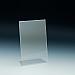 Support d'affiches de comptoir - Support incliné - 4 L x 6 H - Acrylique durable claire