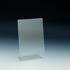 Counter Sign Holder - Easel Back - 4 W x 6 H - Clear durable acrylic