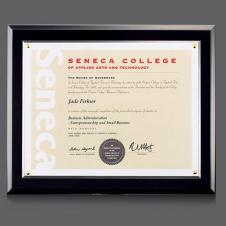 Black Walcourt Certificate Frame
