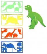 3-D Dinosaur Puzzles W/ 1 Color Imprint