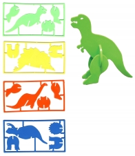 3-D Dinosaur Puzzles W/ 1 Color Imprint