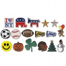 Embroidered Stock Appliques - I Love NY