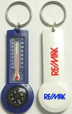 Durable Compass and Thermometer Keychain