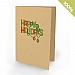 A6 - 100 percent Plantable Personalized Holiday Cards - Colorful Greetings Christmas