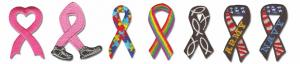 1 1/2 Embroidered Ribbon Appliques - Specialty