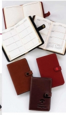 Aniline Glazed Calfskin Purse Size Address Book