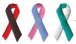 1 3/8 Embroidered Ribbon Appliques - Two-Tones