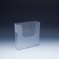 WallMount Brochure Holder up to 6-3/8 Width - 1 pockets -  6,375 W x 6,5 H x 1,6875 D - Clear
