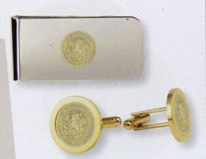 Men's Gold Money Clip and Cufflinks