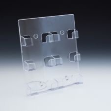 Business cards holder wall mount - Clear durable acrylic - 6 pockets