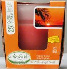 AIR WICK STYLE SCENTED 3 OZ CANDLE-TROP. BREEZE