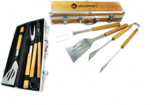 Bamboo BBQ Tool Box Set