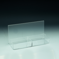 Business cards holder with frame space - Clear durable acrylic