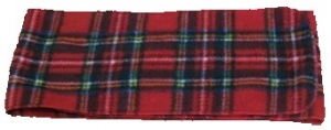 Plaid Fleece Scarf (45x6)