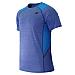 NEW BALANCE - MT61920 - T-Shirt - T-Shirt Technique - 100% Polyester - Bleu E?lectrique - Large