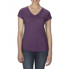ANVIL - 6750VL - T-Shirt - Triblend Col en V pour femme - 50/25/25 - Aubergine Cendré - Small