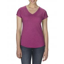 ANVIL - 6750VL - T-Shirt - Triblend Col en V pour femme - 50/25/25 - Framboise Cendré - X-Large