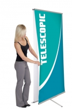 Dash Mega 2 DSH-ME-2 - 36 x 93.5 - Telescopic Non-retractable Banner Stand - w. Bag