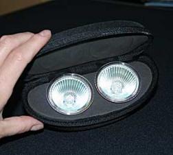 Lumina - Éclairage de kiosques - Ens. de 2 ampoules 50 watt pour Lumina 1 ou 2 - Boîtier en plastique