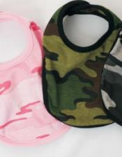 Reversible Camouflage Baby Bib