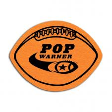 Football Shaped Shammy Coaster
