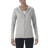 ANVIL - 6759L - Triblend Full Zip Hooded Jacket - 50/25/25 - Heather Grey - Large