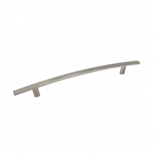 Poignée transitionnelle en métal - 650 - 192 mm - Nickel brossé