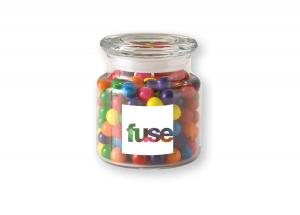 22 Oz. Glass Jar w/ Rainbow Bubble Gum