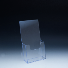 Tri-fold Counter Brochure Holder - 1 pockets - 4,375 W x 3-1/4 D - Clear