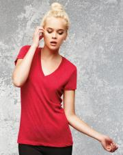 Bella+Canvas - 8435 - Triblend deep V-Neck Ladies Tee - 50/25/25
