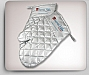 Insulated Silver BBQ Oven Mitt