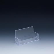 Support à cartes d'affaires - 4 L x 2,25 H x 1 P - Acrylique durable claire - Un espace