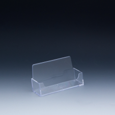 Business cards holder - 4 W x 2,25 H x 1 D - Clear durable acrylic - Single pocket
