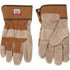 Tan Cow Split Safety Glove